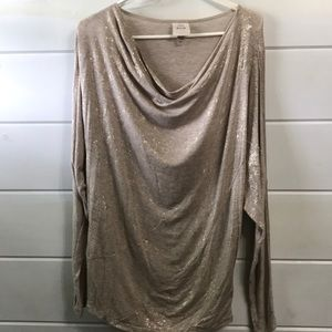 Knox Rose Gold Accent Scoop Neck